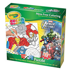 Cardinal Crayola Color Wonder Puzzle - Marvel Avengers Assemble: 24 Pcs