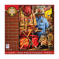 Masterpieces Puzzles Hometown Heroes - Fire and Rescue: 1000 Pcs
