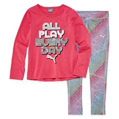 Puma 2-pc. Legging Set-Toddler Girls