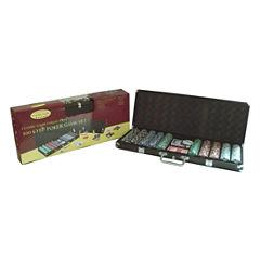 John N. Hansen Co. 500 Chip Poker Game Set in Black Aluminum Case
