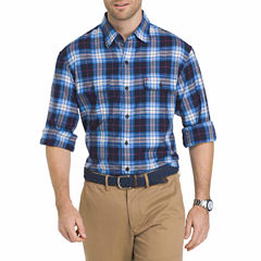 IZOD Saltwater Twill Easycare Long-Sleeve Shirt in Plaid