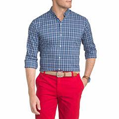 IZOD Advantage Performance Stretch Plaid Long Sleeve Shirt