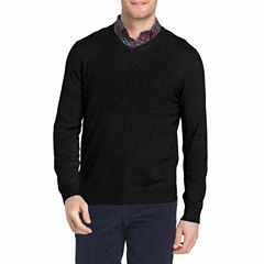 IZOD V Neck Long Sleeve Pullover Sweater - Big and Tall