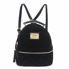 Nicole By Nicole Miller Suzie Velvet Backpack