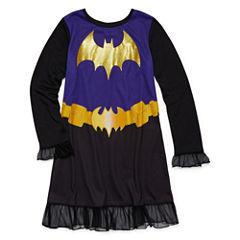 Warner Brothers Long Sleeve Batgirl Nightgown-Big Kid Girls