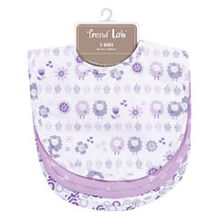 Trend Lab Lambs Girls 3-pc. Bib
