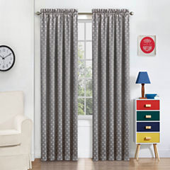 Eclipse Kai Blackout Rod-Pocket Curtain Panel