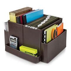 Guidecraft Folding Desk Organizer - Brown