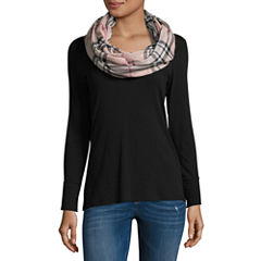V. Fraas Infinity Plaid Scarf