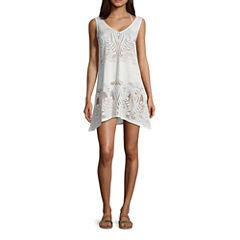 Porto Cruz Pattern Knit Swimsuit Cover-Up Dress
