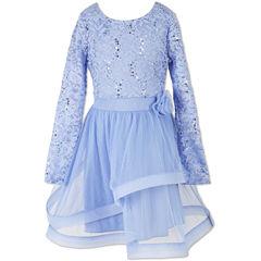 Speechless Embellished Long Sleeve Lace Sleeve Party Dress - Big Kid Girls