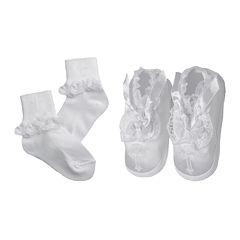 Keepsake® Christening Socks and Shoes Set - Girls