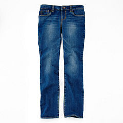 Arizona Straight Fit Jeans - Girls 7-16, Slim and Plus