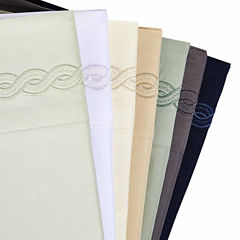 Cable Embroidery Microfiber Wrinkle Free Sheet Set