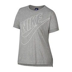 Nike Short Sleeve Crew Neck T-Shirt-Womens Plus