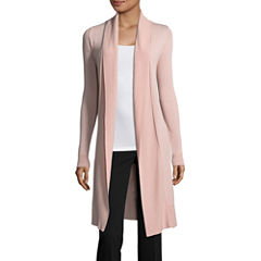 Worthington Long Sleeve Cardigan-Talls