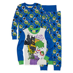 Batman Lego 4 pc Pajama Set - Boys 4-20