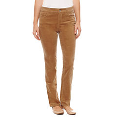 St. John's Bay Secretly Slender Straight Leg Corduroy Pants