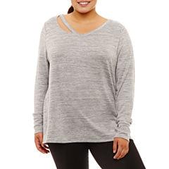 Xersion Long Sleeve Sweatshirt-Plus