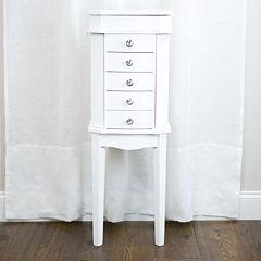 Hives & Honey Meg White Jewelry Armoire