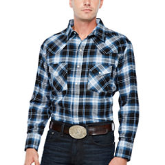 Ely Cattleman Long Sleeve Flannel Western  Shirt