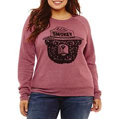 Smokey The Bear Soft Sweatshirt-Juniors Plus