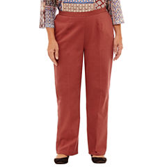 Alfred Dunner Gypsy Moon Woven Flat Front Pants-Plus Short