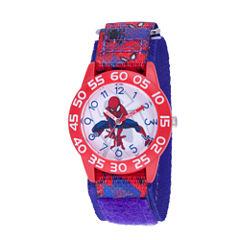 Spiderman Boys Blue Strap Watch-Wma000192