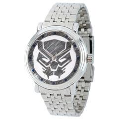 Marvel Mens Silver Tone Strap Watch-Wma000199