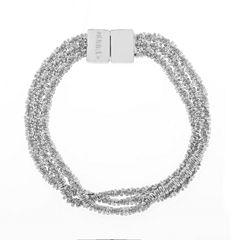 Monet Silvertone Textured Flex Bracelet