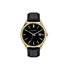 Caravelle Mens Black Strap Watch-44b118