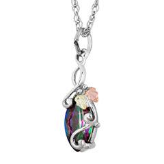 Landstroms Black Hills Gold Mystic Fire Topaz Sterling Silver Pendant Necklace
