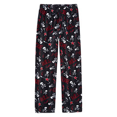 Arizona Husky Microfleece Skull Print Pajama Pant-Boys