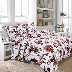 Tribeca Living Blossoms 3-pc. Duvet Cover Set
