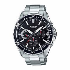 Casio Mens Silver Tone Bracelet Watch-Mtd320d-1a