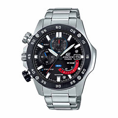Casio Mens Silver Tone Bracelet Watch-Efr558db-1a