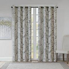 Madison Park Dermot Grommet Top Grommet-Top Curtain Panel
