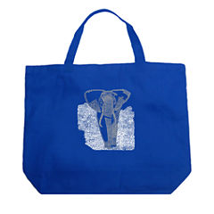 Los Angeles Pop Art Elephant Tote