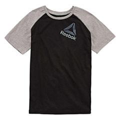 Reebok Short Sleeve Crew Neck T-Shirt-Big Kid Boys
