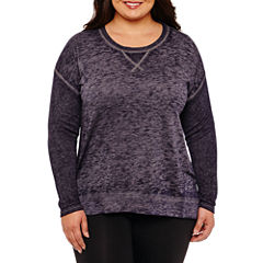 St. John's Bay Active Long Sleeve Thermal Sweatshirt-Plus