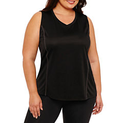 St. John's Bay Active Sleeveless Quick Dry Tank-Plus
