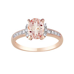 Pink Morganite Diamond-Accent Ring