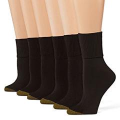GoldToe® 6-pk. Turn-Cuff Crew Socks