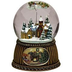 Roman Rotating Village Snow Globe