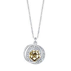 Disney Disney Womens Silver Over Brass Pendant Necklace