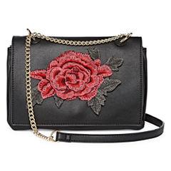 Rose Patch Crossbody Bag