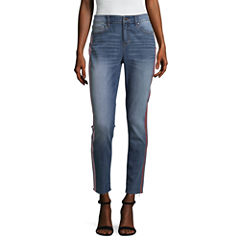 Project Runway Rose Gold Racer Stripe Jeans