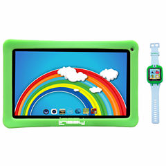 LINSAY® Kids Bundle with Green Kids Smartest Watch on Earth with Camera and 10.1