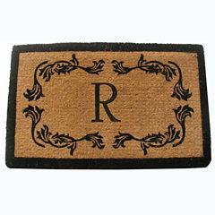 Grape Leaf Monogram Rectangular Doormat
