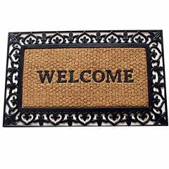 Scroll Welcome Rectangular Doormat - 18